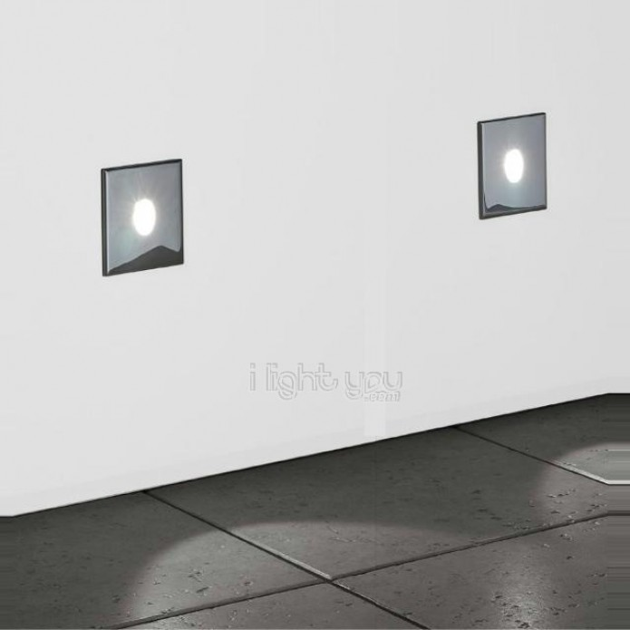 Charly Led Recessed Wall Light Chrome