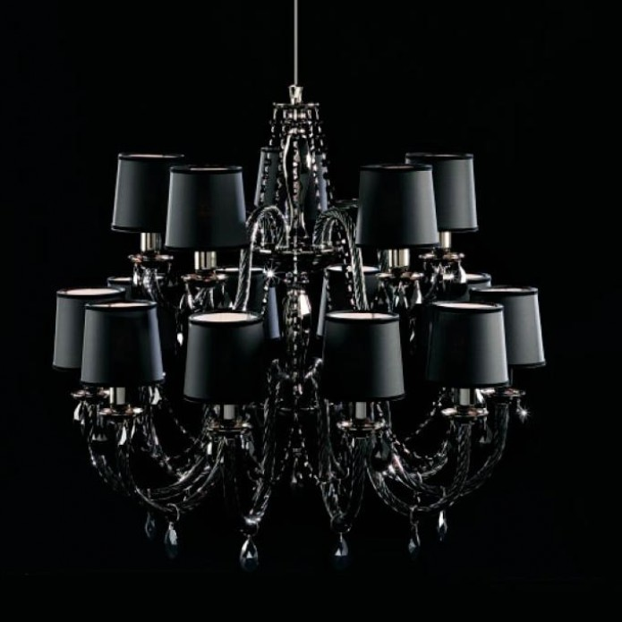 Design chandelier lenoir black